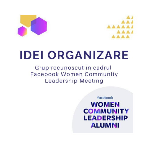 #IdeiOrganizare, grup recunoscut pentru calitatea conținutului și a membrilor în cadrul Facebook Women Community Leadership Meeting și Digital Divas